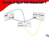 Spot the Word Grade 3 Set 1