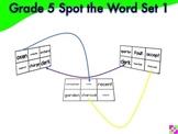 Spot the Word Grade 5 Set 1