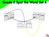 Spot the Word Grade 5 Set 4