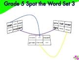 Spot the Word Grade 5 Set 3