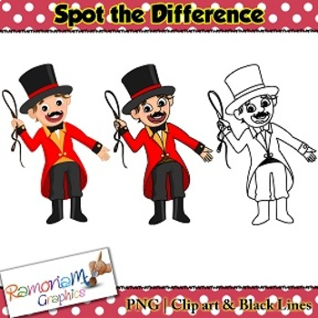 Spot the difference Clip art