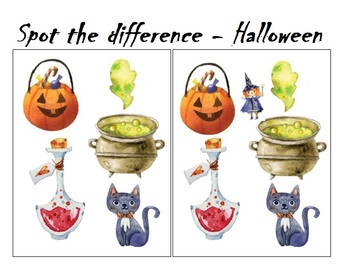 Spot the difference Halloween