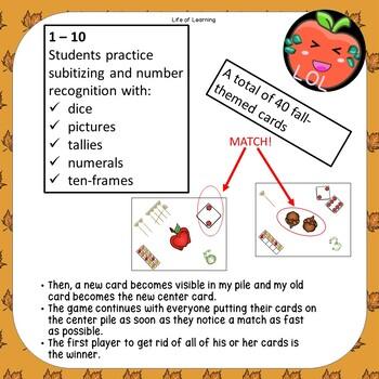 Spot the match math centers game for Kindergarten to grade 1