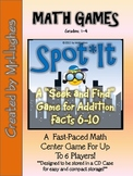 Math Facts Center (6-10) {Seek and Find Addition}