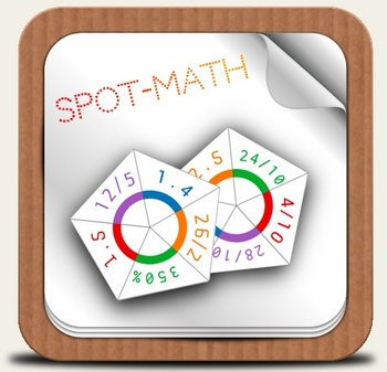 SpotMath - Spot*it for Percent, Decimal, Fraction - Pack of three levels