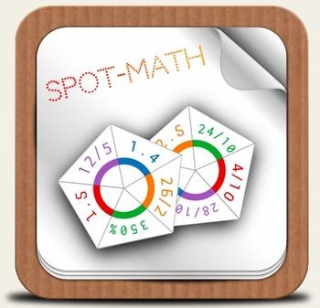 SpotMath - Spot*it for Percent, Decimal, Fraction - Pack o