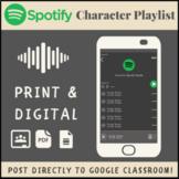 Spotify Character Playlist for Google Drive | Print & Digi