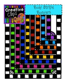 Bold Stripe Borders and Frames {Creative Clips Digital Clipart}