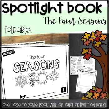 Spotlight Foldable Book- The Four Seasons