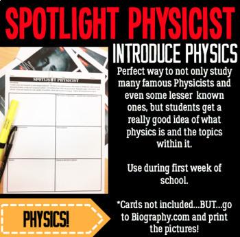 Spotlight Physicist- Physics Research