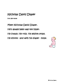 Spotlight Poems for Enriched Student Learning - Nicholas - a clerihew