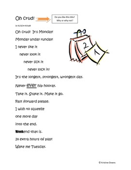 Spotlight Poems for Enriched Student Learning - Oh crud! - light verse