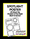 Spotlight Poster- Back to School- All About Me- Student of