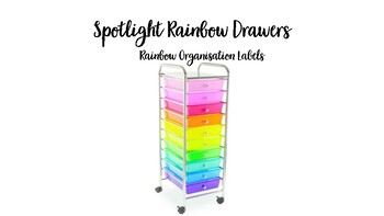 Spotlight Rainbow Drawers Labels (Rainbow)- Resource Trolley (with/ without pic)
