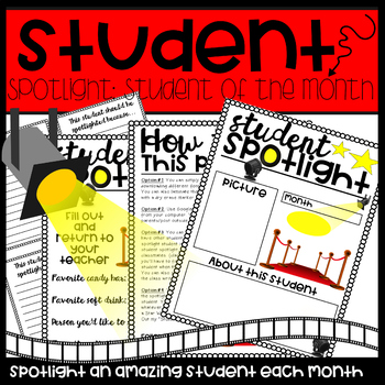 Spotlight Student of the Month-Red Carpet Themed
