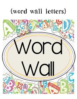 Spotlight Word Wall Letters