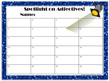 Add an Adjective (scavenger hunt)