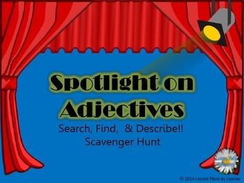 Add an Adjective (scavenger hunt)