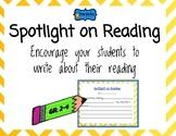 Spotlight on Reading book commercial