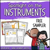 Spotlight on the Instruments - Activity FREE SAMPLER!