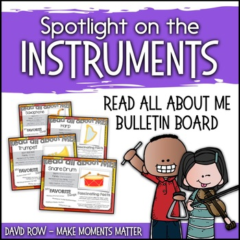 """Spotlight on the Instruments - """"Read All About Me"""" Poster Set"""