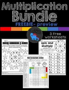 Multiplication Bundle Preview Bundle