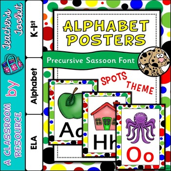 Spots Themed Alphabet Posters Frieze {UK Teaching Resource}