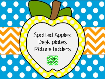 Spotted Apples Deskplates and Picture Holders