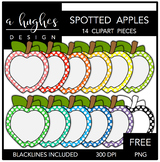 FREE Spotted Apples Clipart {A Hughes Design}