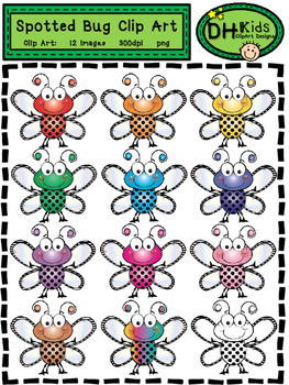 Spotted Bug Clip Art - Insect Clip Art