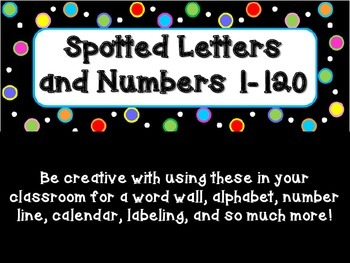 Spotted Letters and Numbers - Dots on Black