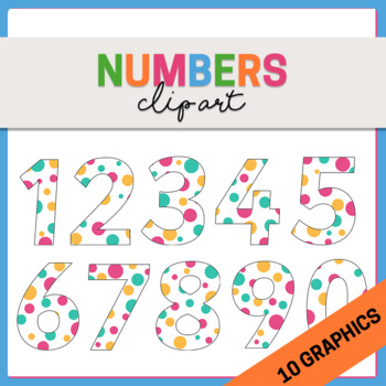 Spotted Numbers Clipart