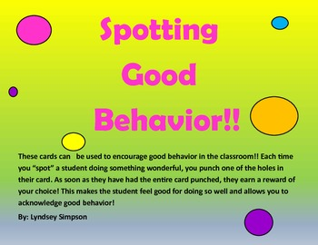 Spotting Good Behavior