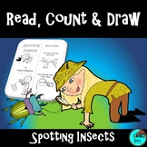 Read, Count & Draw - Spotting Insects