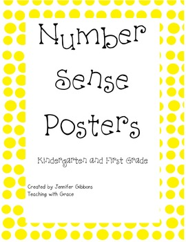 Spotting Number Sense Posters- Yellow