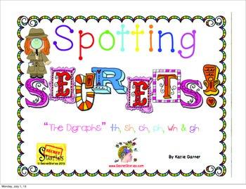 "Spotting Phonics ""Secrets!"" The SECRET STORIES® Digraphs: th, sh, ch, ph, wh, gh"