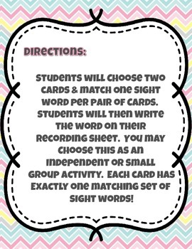 Spotting Sight Words