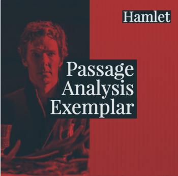 Hamlet Passage Analysis Exemplar