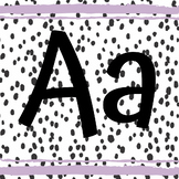 Spotty Alphabet Decoration with Lavender