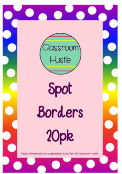 Spotty Borders/Frames 20pack