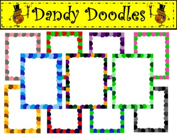 Spotty Dotty Frames Clip Art by Dandy Doodles