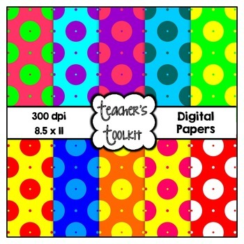 Spotty Heaven Digital Background Papers {8.5 x 11} Clip Art CU OK