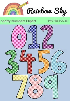 Spotty Numbers 0 - 9 Clipart. Free Download