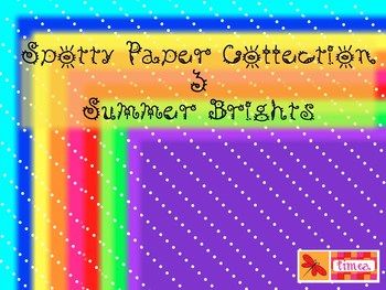 Spotty Paper Collection 3 - Summer Brights