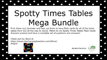 Spotty Times Tables Mega Value Bundle