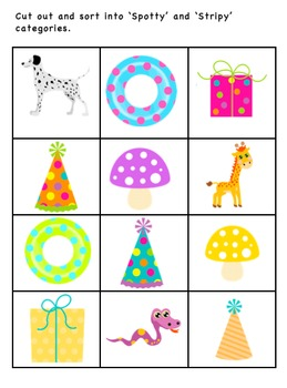 Spotty and Stripy Adjective / Concept / Descriptive Vocabulary Learning Package