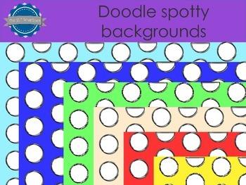 Spotty doodle backgrounds