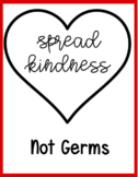 Spread Kindness Not Germs Printable Classroom Poster