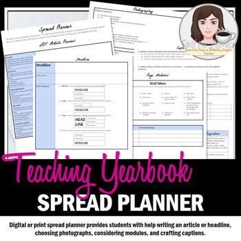 Spread Planner for Yearbook or Journalism