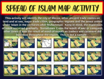 Spread of Islam Map Activity - fun, easy, engaging follow-
